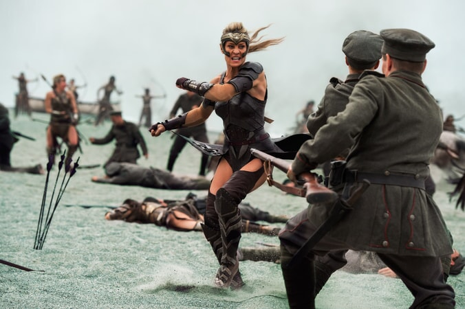 "ROBIN WRIGHT as Antiope in the action adventure ""WONDER WOMAN,"" a Warner Bros. Pictures release."