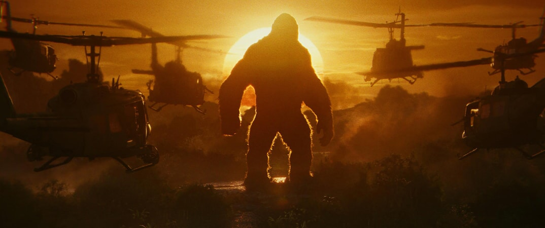 "KONG in Warner Bros. Pictures', Legendary Pictures' and Tencent Pictures' action adventure ""KONG: SKULL ISLAND,"" a Warner Bros. Pictures release."