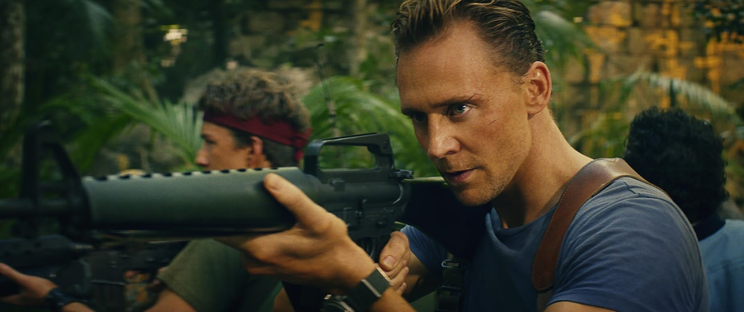 "THOMAS MANN as Slivko and TOM HIDDLESTON as James Conrad in Warner Bros. Pictures', Legendary Pictures' and Tencent Pictures' action adventure ""KONG: SKULL ISLAND,"" a Warner Bros. Pictures release."