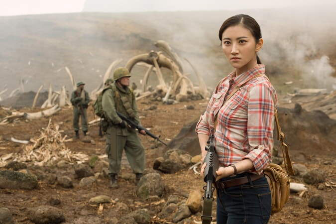"JING TIAN as San in Warner Bros. Pictures', Legendary Pictures' and Tencent Pictures' action adventure ""KONG: SKULL ISLAND,"" a Warner Bros. Pictures release."