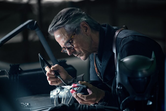 "JEREMY IRONS as Alfred in Warner Bros. Pictures' action adventure ""JUSTICE LEAGUE,"" a Warner Bros. Pictures release."