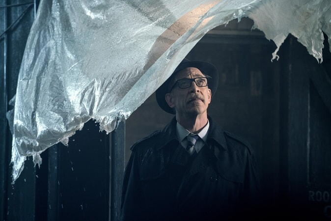"J.K. SIMMONS as Commissioner Gordon in Warner Bros. Pictures' action adventure ""JUSTICE LEAGUE,"" a Warner Bros. Pictures release."