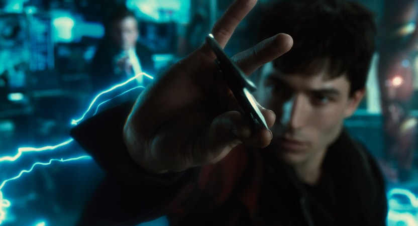 "EZRA MILLER as Barry Allen in Warner Bros. Pictures' action adventure ""JUSTICE LEAGUE,"" a Warner Bros. Pictures release."