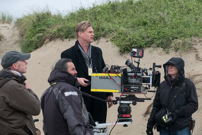 "Director/writer/producer CHRISTOPHER NOLAN on the set of the Warner Bros. Pictures action thriller ""DUNKIRK,"" a Warner Bros. Pictures release."