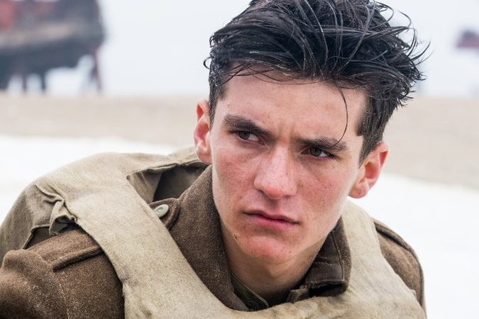 "FIONN WHITEHEAD in a scene from Christopher Nolan's new epic action thriller ""DUNKIRK,"" a Warner Bros. Pictures release."