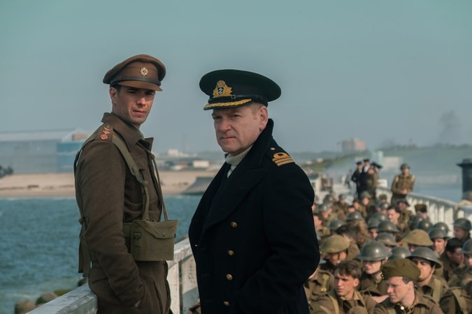 "JAMES D'ARCY as Colonel Winnant and KENNETH BRANAGH as Commander Bolton in the Warner Bros. Pictures action thriller ""DUNKIRK,"" a Warner Bros. Pictures release."