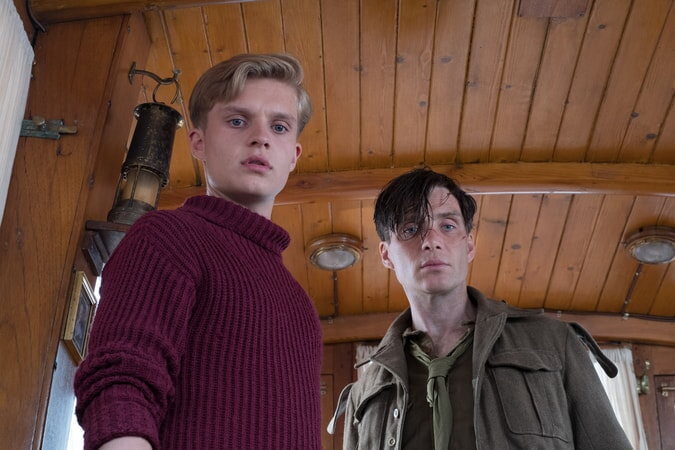 "TOM GLYNN-CARNEY as Peter and CILLIAN MURPHY as Shivering Soldier in the Warner Bros. Pictures action thriller ""DUNKIRK,"" a Warner Bros. Pictures release."