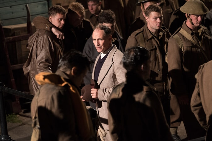 "MARK RYLANCE as Mr. Dawson in the Warner Bros. Pictures action thriller ""DUNKIRK,"" a Warner Bros. Pictures release."