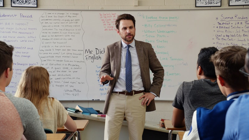 "CHARLIE DAY as Andy Campbell in the New Line Cinema and Village Roadshow Pictures comedy ""FIST FIGHT,"" a Warner Bros. Pictures release."