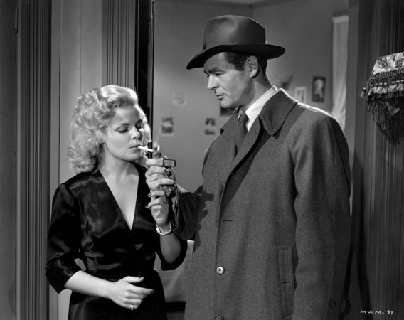 cleo moore and robert ryan in on dangerous ground