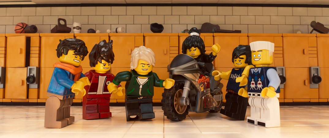 """(L-R) Jay (voiced by KUMAIL NANJIANI), Kai (voiced by MICHAEL PEÑA), Lloyd (voiced by DAVE FRANCO), Nya (voiced by ABBI JACOBSON), Cole (voiced by FRED ARMISEN) and Zane (voiced by ZACH WOODS) in the new animated adventure """"THE LEGO® NINJAGO® MOVIE,"""" from Warner Bros. Pictures and Warner Animation Group, in association with LEGO System A/S, a Warner Bros. Pictures release."""