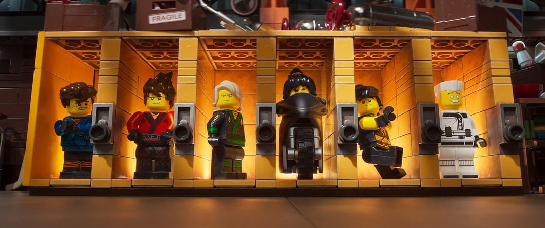 """Jay (voiced by KUMAIL NANJIANI), Kai (voiced by MICHAEL PEÑA), Lloyd (voiced by DAVE FRANCO), Nya (voiced by ABBI JACOBSON), Cole (voiced by FRED ARMISEN) and Zane (voiced by ZACH WOODS) in the new animated adventure """"THE LEGO® NINJAGO® MOVIE,"""" from Warner Bros. Pictures and Warner Animation Group, in association with LEGO System A/S, a Warner Bros. Pictures release."""
