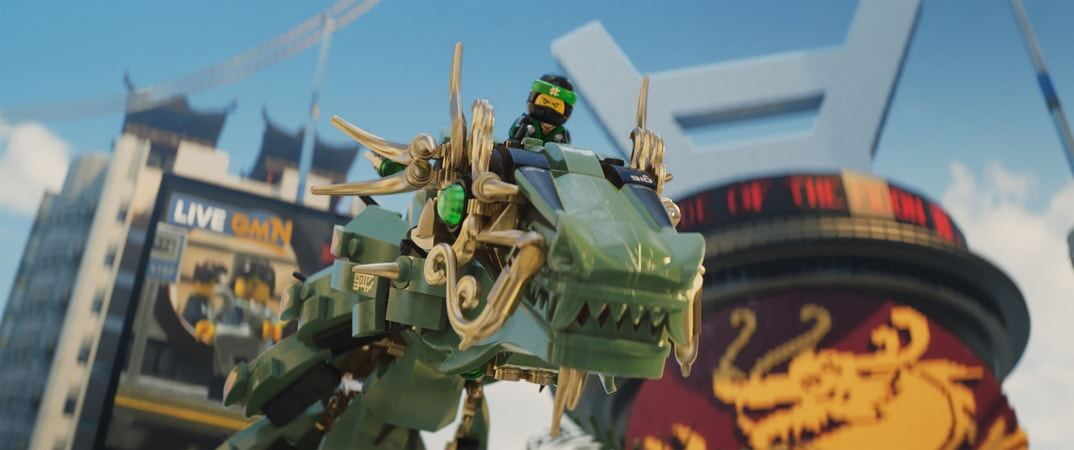"""Lloyd (voiced by DAVE FRANCO) on the Green Ninja Mech Dragon in the new animated adventure """"THE LEGO® NINJAGO® MOVIE,"""" from Warner Bros. Pictures and Warner Animation Group, in association with LEGO System A/S, a Warner Bros. Pictures release."""