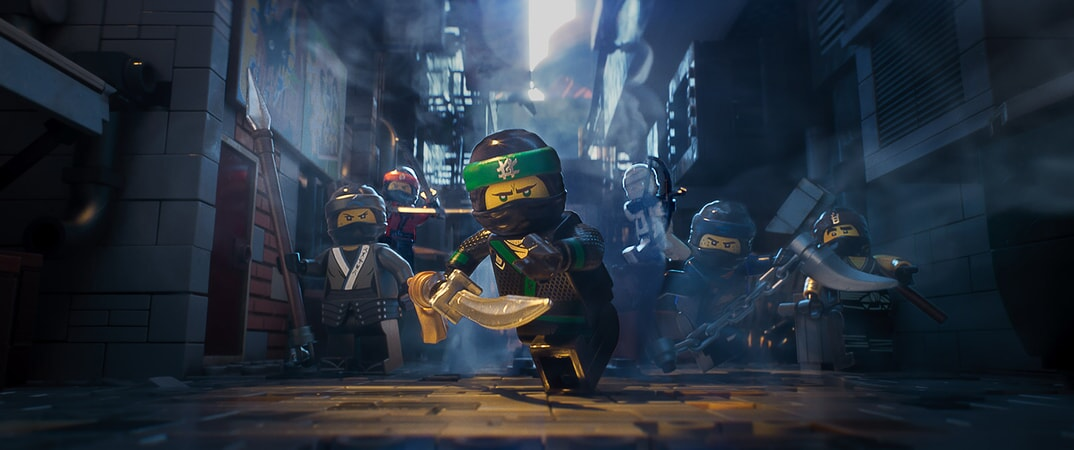 """(L-R) Nya (voiced by ABBI JACOBSON), Kai (voiced by MICHAEL PEÑA), Lloyd (voiced by DAVE FRANCO), Zane (voiced by ZACH WOODS), Jay (voiced by KUMAIL NANJIANI) and Cole (voiced by FRED ARMISEN) in the new animated adventure """"THE LEGO® NINJAGO® MOVIE,"""" from Warner Bros. Pictures and Warner Animation Group, in association with LEGO System A/S, a Warner Bros. Pictures release."""