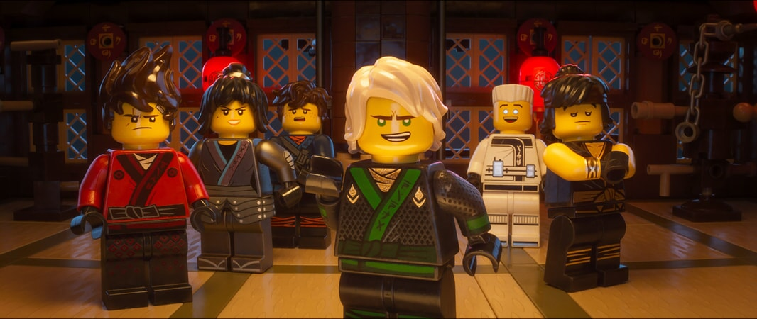 """(L-R) Kai (voiced by MICHAEL PEÑA), Nya (voiced by ABBI JACOBSON), Jay (voiced by KUMAIL NANJIANI), Lloyd (voiced by DAVE FRANCO), Zane (voiced by ZACH WOODS) and Cole (voiced by FRED ARMISEN) in the new animated adventure """"THE LEGO® NINJAGO® MOVIE,"""" from Warner Bros. Pictures and Warner Animation Group, in association with LEGO System A/S, a Warner Bros. Pictures release."""