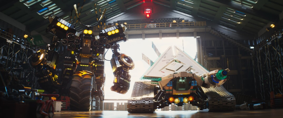 """(L-R) Cole (voiced by FRED ARMISEN) in the Quake Mech in the new animated adventure """"THE LEGO® NINJAGO® MOVIE,"""" from Warner Bros. Pictures and Warner Animation Group, in association with LEGO System A/S, a Warner Bros. Pictures release."""