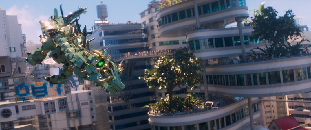 """The Green Ninja Mech Dragon in the new animated adventure """"THE LEGO® NINJAGO® MOVIE,"""" from Warner Bros. Pictures and Warner Animation Group, in association with LEGO System A/S, a Warner Bros. Pictures release."""