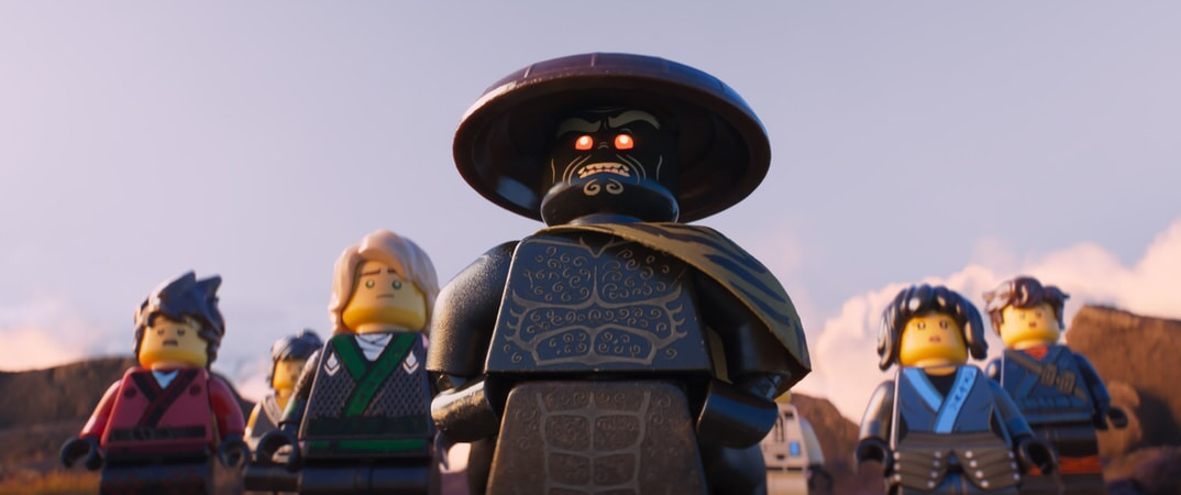 """(L-R) Kai (voiced by MICHAEL PEÑA), Cole (voiced by FRED ARMISEN), Lloyd (voiced by DAVE FRANCO), Garmadon (voiced by JUSTIN THEROUX), Nya (voiced by ABBI JACOBSON) and Jay (voiced by KUMAIL NANJIANI) in the new animated adventure """"THE LEGO® NINJAGO® MOVIE,"""" from Warner Bros. Pictures and Warner Animation Group, in association with LEGO System A/S, a Warner Bros. Pictures release."""