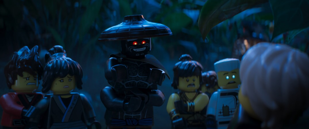 """(L-R) Kai (voiced by MICHAEL PEÑA), Nya (voiced by ABBI JACOBSON), Garmadon (voiced by JUSTIN THEROUX), Cole (voiced by FRED ARMISEN), Jay (voiced by KUMAIL NANJIANI), Zane (voiced by ZACH WOODS) and Lloyd (voiced by DAVE FRANCO) in the new animated adventure """"THE LEGO® NINJAGO® MOVIE,"""" from Warner Bros. Pictures and Warner Animation Group, in association with LEGO System A/S, a Warner Bros. Pictures release."""