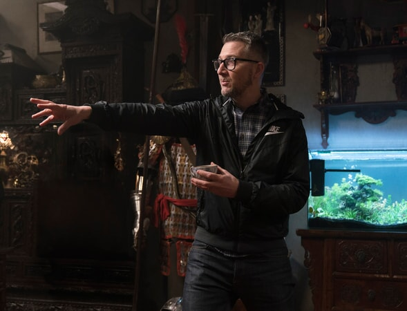 """Director CHARLIE BEAN on the set of the new animated adventure """"THE LEGO® NINJAGO® MOVIE,"""" from Warner Bros. Pictures and Warner Animation Group, in association with LEGO System A/S, a Warner Bros. Pictures release."""
