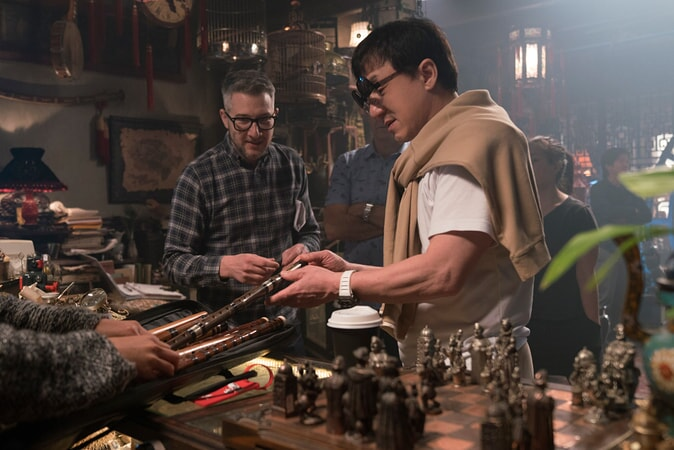 """Director CHARLIE BEAN and JACKIE CHAN and on the set of the new animated adventure """"THE LEGO® NINJAGO® MOVIE,"""" from Warner Bros. Pictures and Warner Animation Group, in association with LEGO System A/S, a Warner Bros. Pictures release."""
