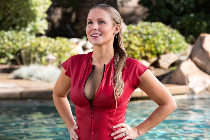 "KRISTEN BELL as Karen in Warner Bros. Pictures' action comedy ""CHIPS,"" a Warner Bros. Pictures release."