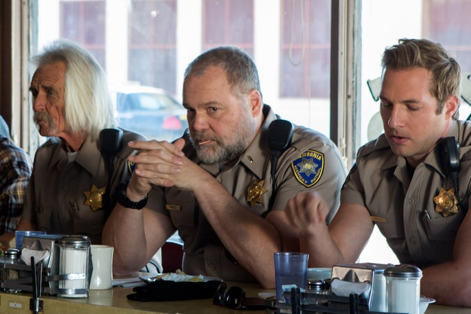 "VINCENT D'ONOFRIO as Ray Kurtz and RYAN HANSEN as Brian Grieves in Warner Bros. Pictures' action comedy ""CHIPS,"" a Warner Bros. Pictures release."