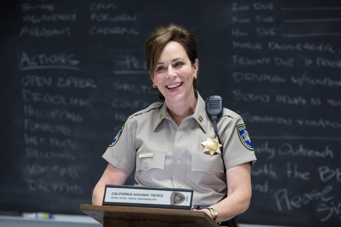 "JANE KACZMAREK as Captain Jane Lindel in Warner Bros. Pictures' action comedy ""CHIPS,"" a Warner Bros. Pictures release."