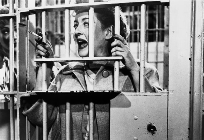 bette davis behind bars in the star