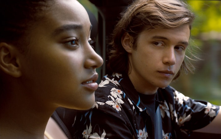 "AMANDLA STENBERG as Maddy and NICK ROBINSON as Olly in the Warner Bros. Pictures and Metro-Goldwyn-Mayer Pictures romantic drama ""EVERYTHING, EVERYTHING,"" a Warner Bros. Pictures release."