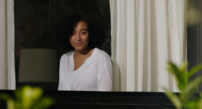 "AMANDLA STENBERG as Maddy in the Warner Bros. Pictures and Metro-Goldwyn-Mayer Pictures romantic drama ""EVERYTHING, EVERYTHING,"" a Warner Bros. Pictures release."
