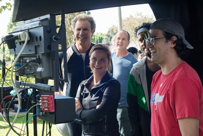 """WILL FERRELL, AMY POEHLER, JASON MANTZOUKAS and director/writer/producer ANDREW JAY COHEN and on the set of the New Line Cinema and Village Roadshow Pictures comedy """"THE HOUSE,"""" a Warner Bros. Pictures release."""