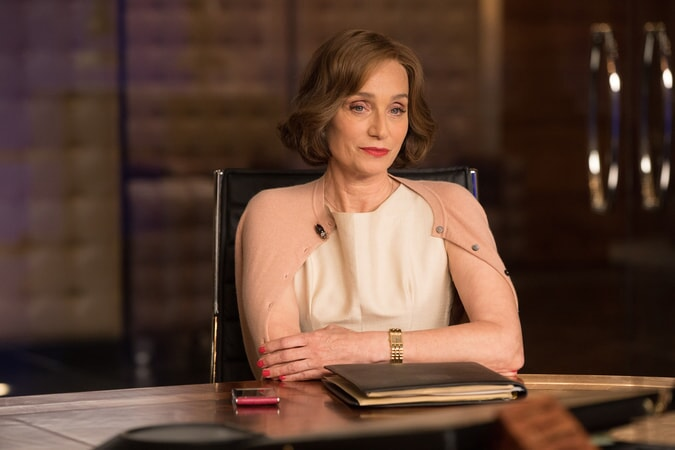 """KRISTIN SCOTT THOMAS as Ana Miller in Warner Bros. Pictures' and Metro-Goldwyn-Mayer Pictures' action adventure """"TOMB RAIDER,"""" a Warner Bros. Pictures release."""