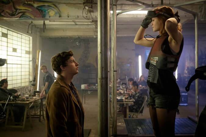 "TYE SHERIDAN as Wade Watts and OLIVIA COOKE as Samantha Cook in Warner Bros. Pictures', Amblin Entertainment's and Village Roadshow Pictures' science fiction action adventure ""READY PLAYER ONE,"" a Warner Bros. Pictures release."