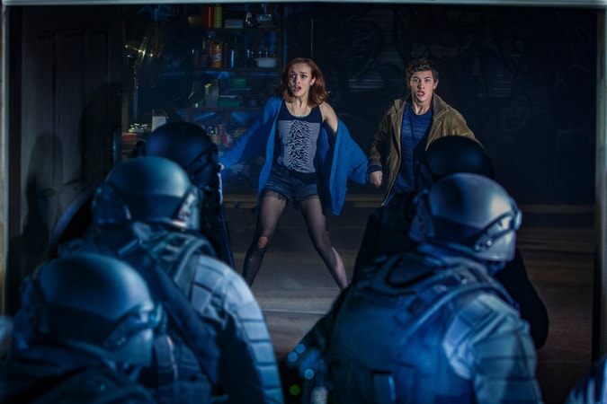 "OLIVIA COOKE as Samantha and TYE SHERIDAN as Wade in Warner Bros. Pictures', Amblin Entertainment's and Village Roadshow Pictures' action adventure ""READY PLAYER ONE,"" a Warner Bros. Pictures release."