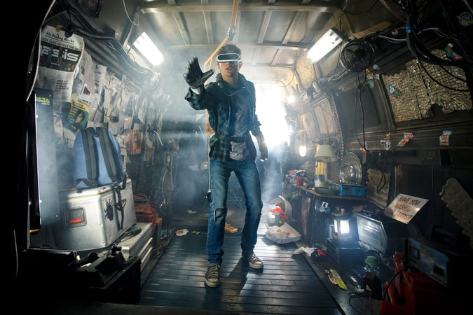 "TYE SHERIDAN as Wade Watts in Warner Bros. Pictures,' Amblin Entertainment's and Village Roadshow Pictures' science fiction action adventure ""READY PLAYER ONE,"" a Warner Bros. Pictures release."