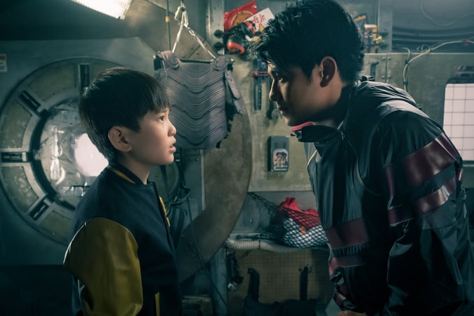"PHILIP ZHAO as Sho and WIN MORISAKI as Daito in Warner Bros. Pictures', Amblin Entertainment's and Village Roadshow Pictures' action adventure ""READY PLAYER ONE,"" a Warner Bros. Pictures release."