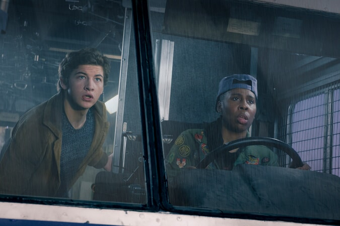 "TYE SHERIDAN as Wade and LENA WAITHE as Helen in Warner Bros. Pictures', Amblin Entertainment's and Village Roadshow Pictures' action adventure ""READY PLAYER ONE,"" a Warner Bros. Pictures release."