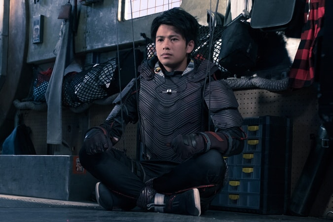 "WIN MORISAKI as Daito in Warner Bros. Pictures', Amblin Entertainment's and Village Roadshow Pictures' action adventure ""READY PLAYER ONE,"" a Warner Bros. Pictures release."