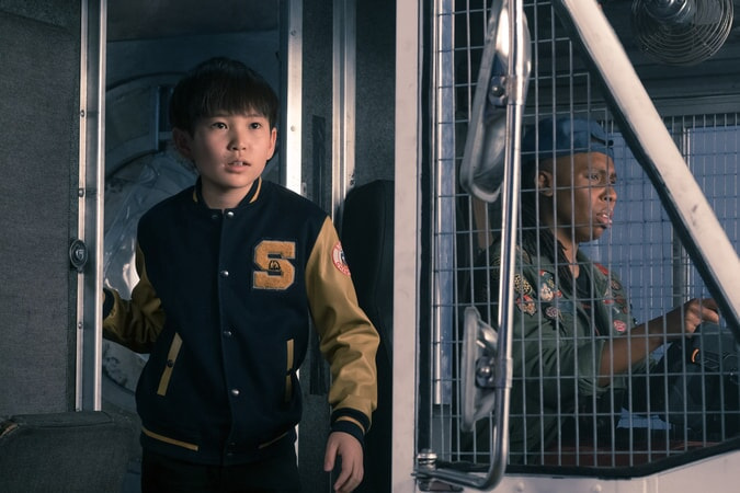 "PHILIP ZHAO as Sho and LENA WAITHE as Helen in Warner Bros. Pictures', Amblin Entertainment's and Village Roadshow Pictures' action adventure ""READY PLAYER ONE,"" a Warner Bros. Pictures release."