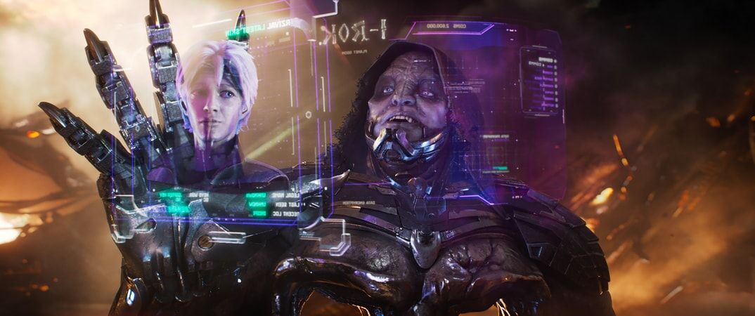 "(L-R) TYE SHERIDAN as Parzival and T.J. MILLER as I-R0k in Warner Bros. Pictures', Amblin Entertainment's and Village Roadshow Pictures' action adventure ""READY PLAYER ONE,"" a Warner Bros. Pictures release."