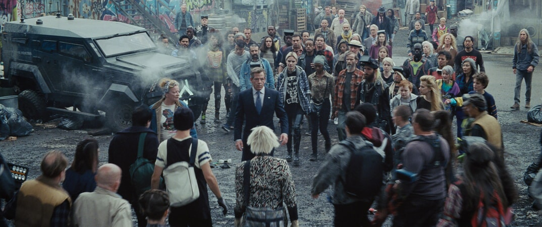 "(Center) BEN MENDELSOHN as Nolan Sorrento in Warner Bros. Pictures', Amblin Entertainment's and Village Roadshow Pictures' action adventure ""READY PLAYER ONE,"" a Warner Bros. Pictures release."