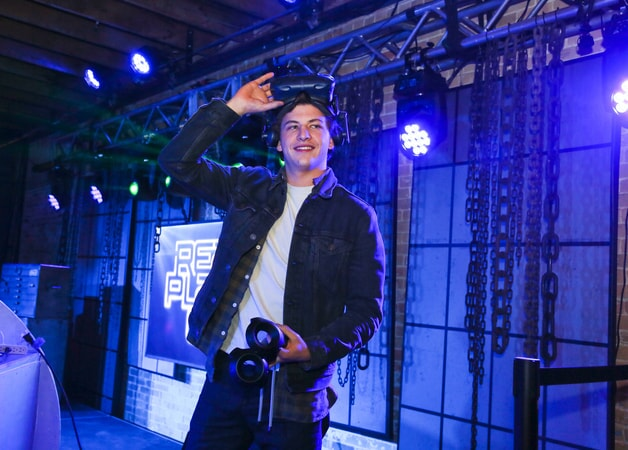 "TYE SHERIDAN at SXSW 2018 in Austin, Texas for Warner Bros. Pictures,' Amblin Entertainment's and Village Roadshow Pictures' science fiction action adventure ""READY PLAYER ONE,"" a Warner Bros. Pictures release."
