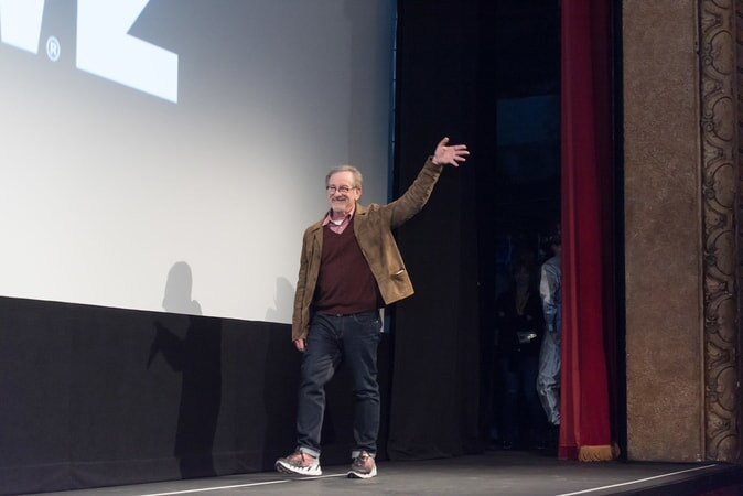 "Director STEVEN SPIELBERG at SXSW 2018 in Austin, Texas for Warner Bros. Pictures,' Amblin Entertainment's and Village Roadshow Pictures' science fiction action adventure ""READY PLAYER ONE,"" a Warner Bros. Pictures release."