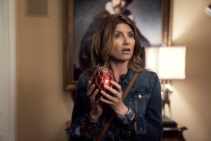 "SHARON HORGAN as Sarah in New Line Cinema's action comedy ""GAME NIGHT,"" a Warner Bros. Pictures release."