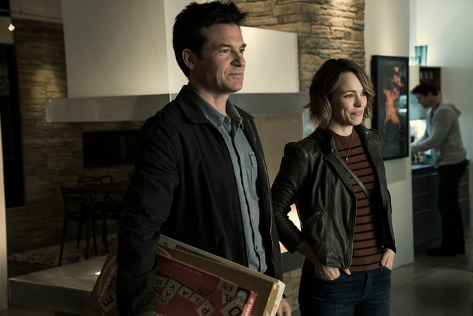 "JASON BATEMAN as Max and RACHEL McADAMS as Annie in New Line Cinema's action comedy ""GAME NIGHT,"" a Warner Bros. Pictures release."
