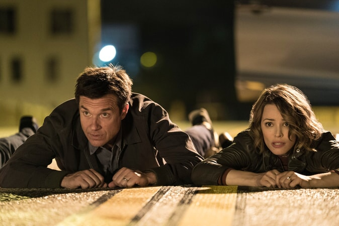 "JASON BATEMAN as Max and RACHEL McADAMS as Annie in New Line Cinema's comedy ""GAME NIGHT,"" a Warner Bros. Pictures release."