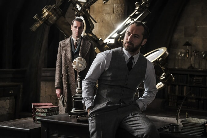 "JUDE LAW as young Albus Dumbledore in Warner Bros. Pictures' fantasy adventure ""FANTASTIC BEASTS: THE CRIMES OF GRINDELWALD,"" a Warner Bros. Pictures release. Photo by Jaap Buitendijk"