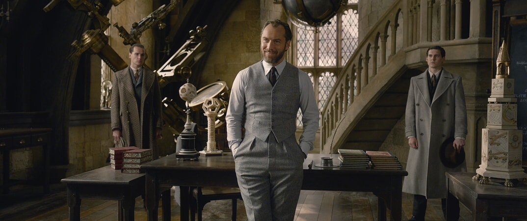 "JUDE LAW as young ALBUS DUMBLEDORE in Warner Bros. Pictures' fantasy adventure ""FANTASTIC BEASTS: THE CRIMES OF GRINDELWALD,"" a Warner Bros. Pictures release."