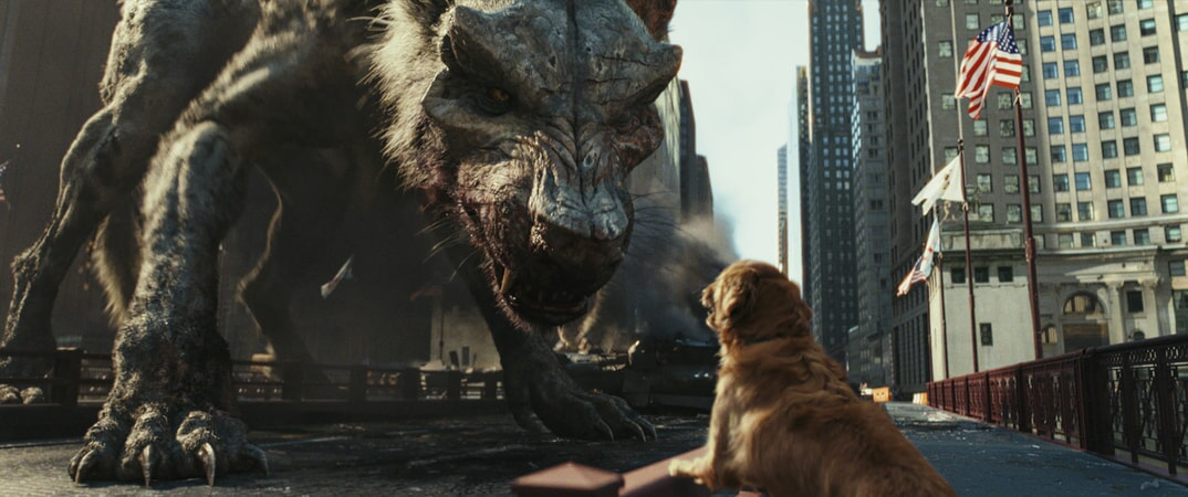 "A scene from New Line Cinema's and ASAP Entertainment's action adventure ""RAMPAGE,"" a Warner Bros. Pictures release."